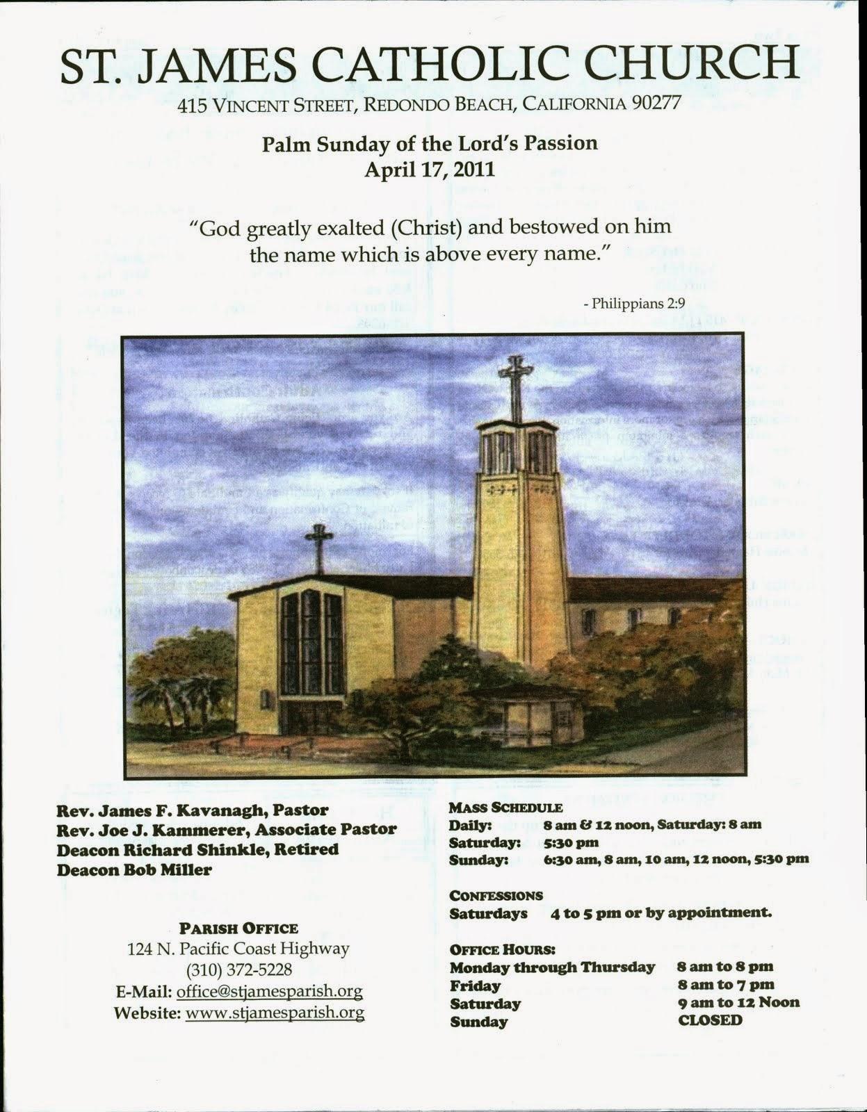 st james redondo beach – MY CHURCH BULLETINS